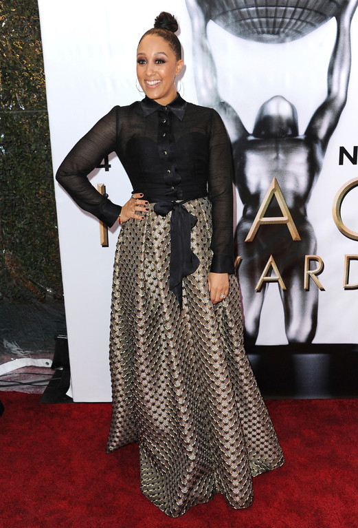 . Tamera Mowry arrives at the 48th annual NAACP Image Awards at the Pasadena Civic Auditorium on Saturday, Feb. 11, 2017, in Pasadena, Calif. (Photo by Richard Shotwell/Invision/AP)
