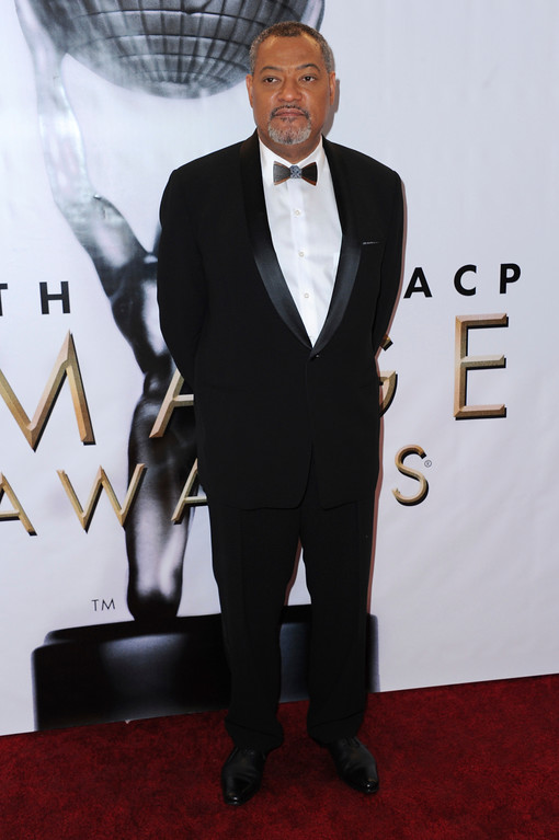 . Laurence Fishburne arrives at the 48th annual NAACP Image Awards at the Pasadena Civic Auditorium on Saturday, Feb. 11, 2017, in Pasadena, Calif. (Photo by Richard Shotwell/Invision/AP)