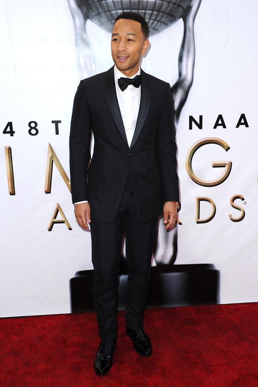 . John Legend arrives at the 48th annual NAACP Image Awards at the Pasadena Civic Auditorium on Saturday, Feb. 11, 2017, in Pasadena, Calif. (Photo by Richard Shotwell/Invision/AP)