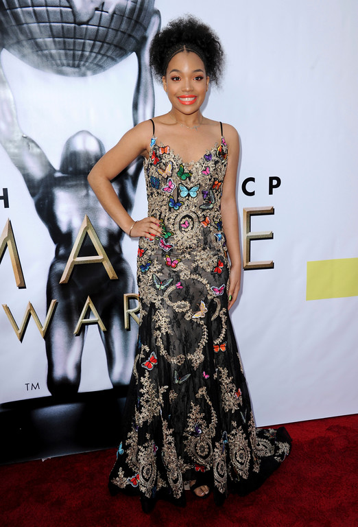 . Ashley Jackson arrives at the 48th annual NAACP Image Awards at the Pasadena Civic Auditorium on Saturday, Feb 11, 2017, in Pasadena, Calif. (Photo by Richard Shotwell/Invision/AP)