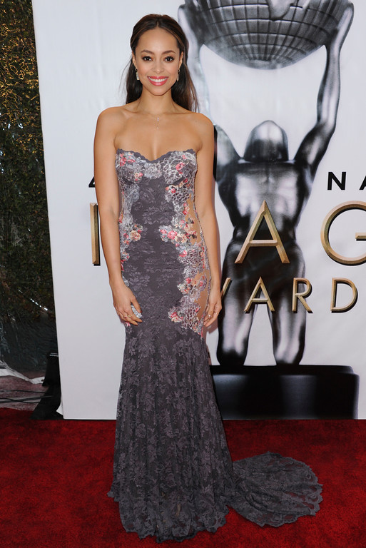 . Amber Stevens West arrives at the 48th annual NAACP Image Awards at the Pasadena Civic Auditorium on Saturday, Feb. 11, 2017, in Pasadena, Calif. (Photo by Richard Shotwell/Invision/AP)