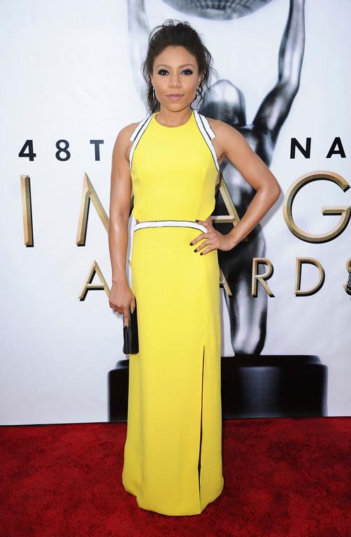 . Shalita Grant arrives at the 48th annual NAACP Image Awards at the Pasadena Civic Auditorium on Saturday, Feb 11, 2017, in Pasadena, Calif. (Photo by Richard Shotwell/Invision/AP)