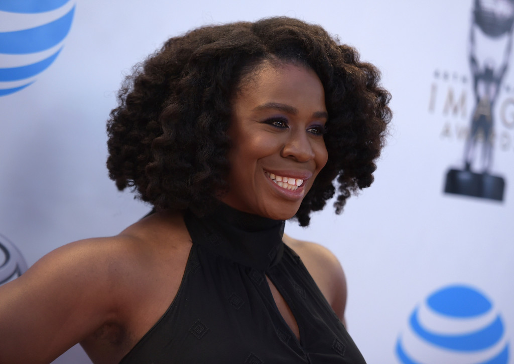 . Uzo Aduba arrives at the 48th annual NAACP Image Awards at the Pasadena Civic Auditorium on Saturday, Feb. 11, 2017, in Pasadena, Calif. (Photo by Richard Shotwell/Invision/AP)