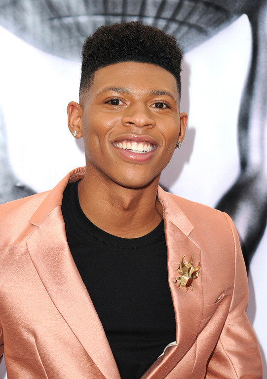 . Bryshere Y. Gray arrives at the 48th annual NAACP Image Awards at the Pasadena Civic Auditorium on Saturday, Feb. 11, 2017, in Pasadena, Calif. (Photo by Richard Shotwell/Invision/AP)