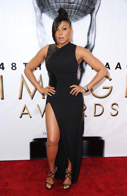 . Taraji P. Henson arrives at the 48th annual NAACP Image Awards at the Pasadena Civic Auditorium on Saturday, Feb. 11, 2017, in Pasadena, Calif. (Photo by Richard Shotwell/Invision/AP)