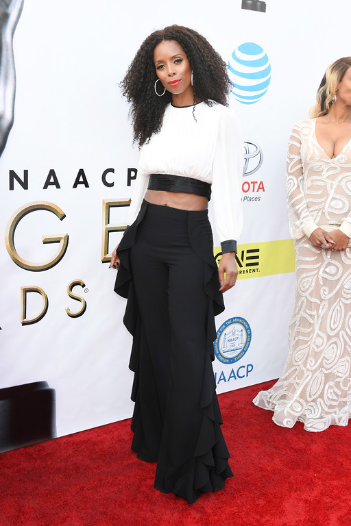 . PASADENA, CA - FEBRUARY 11:  Actress Tasha Smith attends the 48th NAACP Image Awards at Pasadena Civic Auditorium on February 11, 2017 in Pasadena, California.  (Photo by Paras Griffin/Getty Images )