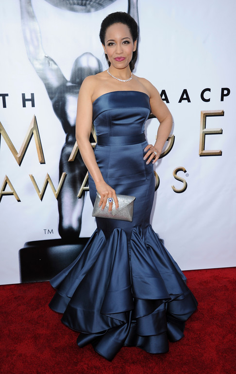. Dawn-Lyen Gardner arrives at the 48th annual NAACP Image Awards at the Pasadena Civic Auditorium on Saturday, Feb 11, 2017, in Pasadena, Calif. (Photo by Richard Shotwell/Invision/AP)