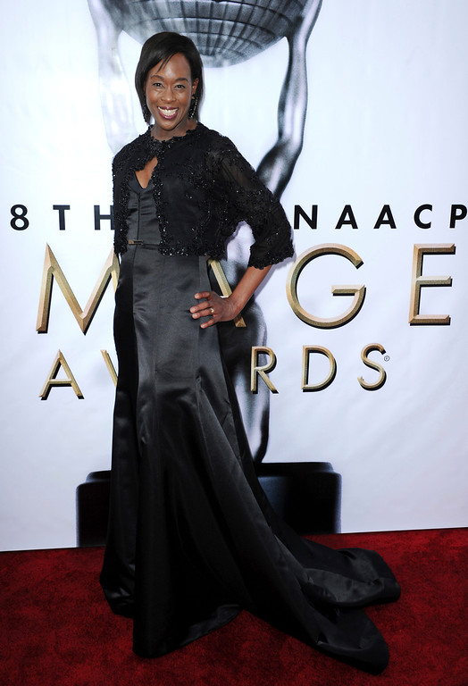 . Margot Lee Shetterly arrives at the 48th annual NAACP Image Awards at the Pasadena Civic Auditorium on Saturday, Feb 11, 2017, in Pasadena, Calif. (Photo by Richard Shotwell/Invision/AP)