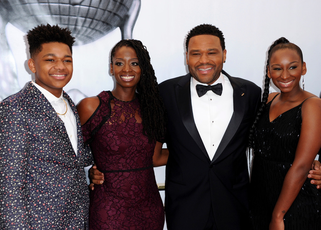 . Nathan Anderson, from left, Alvina Stewart, Anthony Anderson, and Kyra Anderson arrive at the 48th annual NAACP Image Awards at the Pasadena Civic Auditorium on Saturday, Feb. 11, 2017, in Pasadena, Calif. (Photo by Richard Shotwell/Invision/AP)
