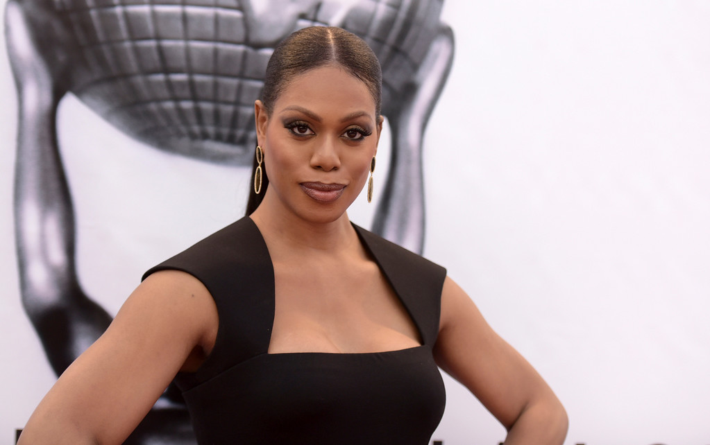 . Laverne Cox arrives at the 48th annual NAACP Image Awards at the Pasadena Civic Auditorium on Saturday, Feb. 11, 2017, in Pasadena, Calif. (Photo by Richard Shotwell/Invision/AP)