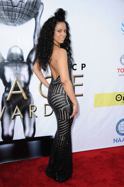 . Susan Kelechi Watson arrives at the 48th annual NAACP Image Awards at the Pasadena Civic Auditorium on Saturday, Feb 11, 2017, in Pasadena, Calif. (Photo by Richard Shotwell/Invision/AP)
