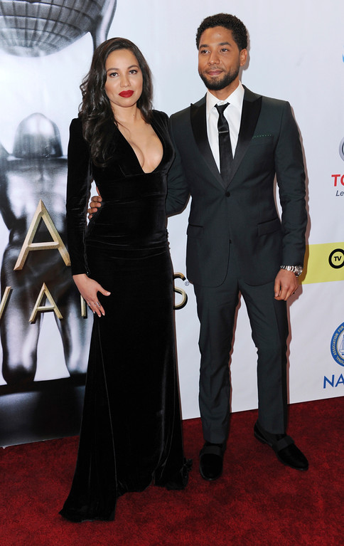 . Jurnee Smollett-Bell, left, and Jussie Smollett arrive at the 48th annual NAACP Image Awards at the Pasadena Civic Auditorium on Saturday, Feb. 11, 2017, in Pasadena, Calif. (Photo by Richard Shotwell/Invision/AP)