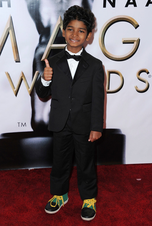 . Sunny Pawar arrives at the 48th annual NAACP Image Awards at the Pasadena Civic Auditorium on Saturday, Feb. 11, 2017, in Pasadena, Calif. (Photo by Richard Shotwell/Invision/AP)