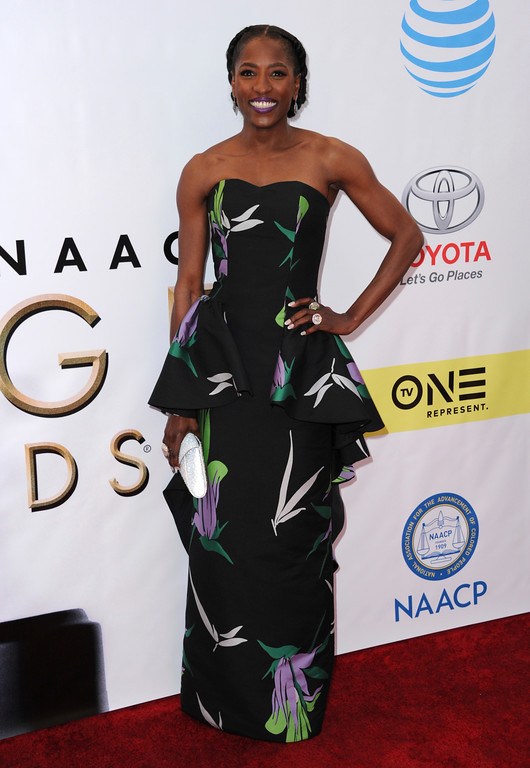 . Rutina Wesley arrives at the 48th annual NAACP Image Awards at the Pasadena Civic Auditorium on Saturday, Feb. 11, 2017, in Pasadena, Calif. (Photo by Richard Shotwell/Invision/AP)