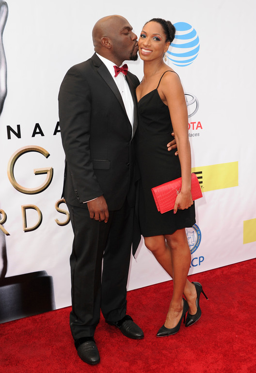 . Omar Dorsey, left, and Conisha Wade arrive at the 48th annual NAACP Image Awards at the Pasadena Civic Auditorium on Saturday, Feb. 11, 2017, in Pasadena, Calif. (Photo by Richard Shotwell/Invision/AP)