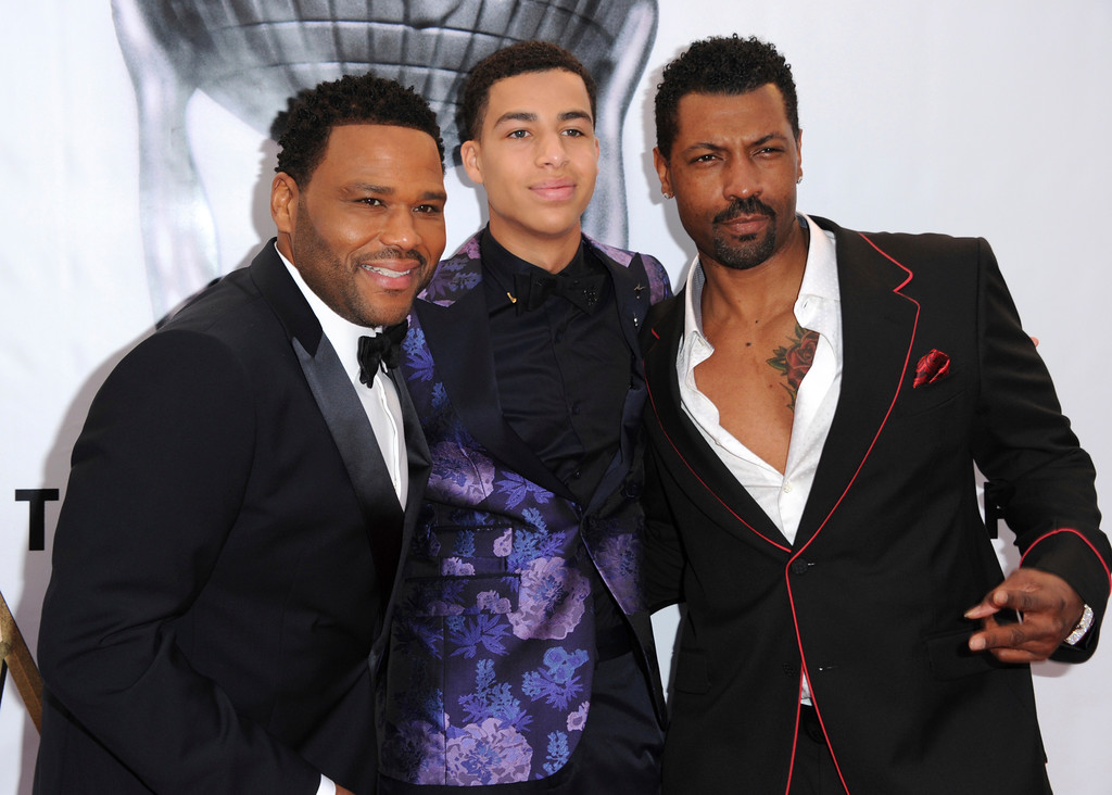 . Anthony Anderson, from left, Marcus Scribner, and Deon Cole arrive at the 48th annual NAACP Image Awards at the Pasadena Civic Auditorium on Saturday, Feb. 11, 2017, in Pasadena, Calif. (Photo by Richard Shotwell/Invision/AP)