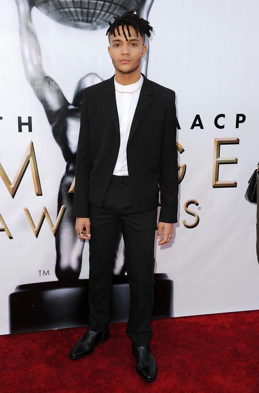 . Nicholas L. Ashe arrives at the 48th annual NAACP Image Awards at the Pasadena Civic Auditorium on Saturday, Feb. 11, 2017, in Pasadena, Calif. (Photo by Richard Shotwell/Invision/AP)