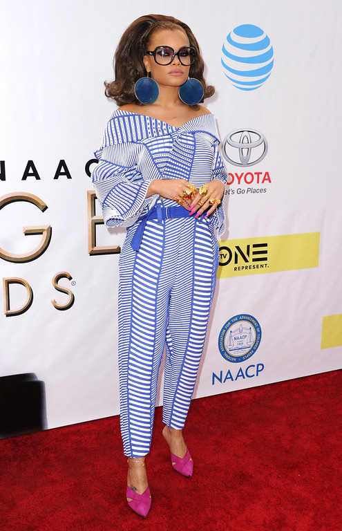. Andra Day arrives at the 48th annual NAACP Image Awards at the Pasadena Civic Auditorium on Saturday, Feb. 11, 2017, in Pasadena, Calif. (Photo by Richard Shotwell/Invision/AP)