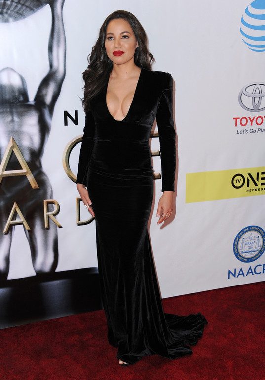. Jurnee Smollett-Bell arrives at the 48th annual NAACP Image Awards at the Pasadena Civic Auditorium on Saturday, Feb. 11, 2017, in Pasadena, Calif. (Photo by Richard Shotwell/Invision/AP)