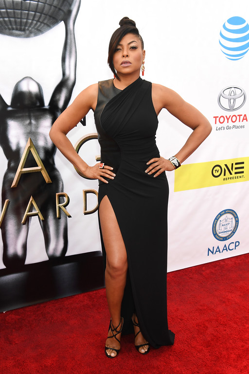 . PASADENA, CA - FEBRUARY 11:  Actress Taraji P Henson attends the 48th NAACP Image Awards at Pasadena Civic Auditorium on February 11, 2017 in Pasadena, California.  (Photo by Paras Griffin/Getty Images )