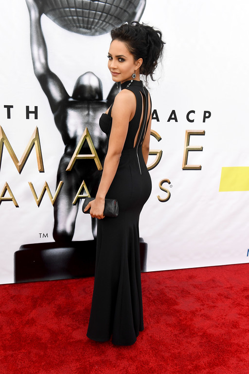 . PASADENA, CA - FEBRUARY 11:  Actress Tristin Mays attends the 48th NAACP Image Awards at Pasadena Civic Auditorium on February 11, 2017 in Pasadena, California.  (Photo by Paras Griffin/Getty Images )