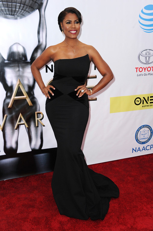 . Omarosa Manigault arrives at the 48th annual NAACP Image Awards at the Pasadena Civic Auditorium on Saturday, Feb. 11, 2017, in Pasadena, Calif. (Photo by Richard Shotwell/Invision/AP)