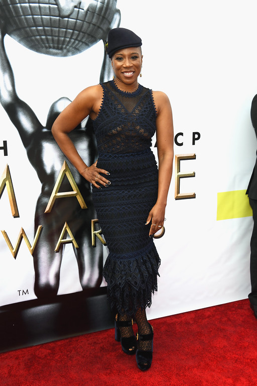 . PASADENA, CA - FEBRUARY 11:  Actress Aisha Hinds attends the 48th NAACP Image Awards at Pasadena Civic Auditorium on February 11, 2017 in Pasadena, California.  (Photo by Paras Griffin/Getty Images )