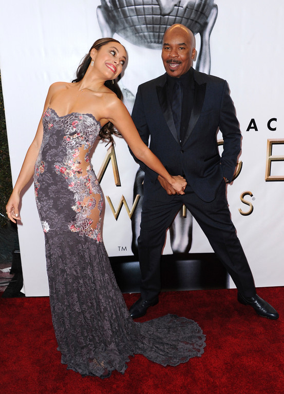 . Amber Stevens West, left, and David Alan Grier arrive at the 48th annual NAACP Image Awards at the Pasadena Civic Auditorium on Saturday, Feb. 11, 2017, in Pasadena, Calif. (Photo by Richard Shotwell/Invision/AP)