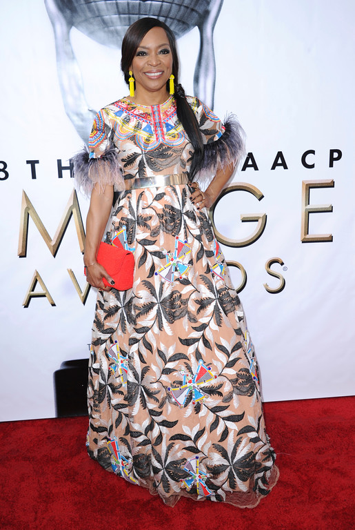 . Tina Lifford arrives at the 48th annual NAACP Image Awards at the Pasadena Civic Auditorium on Saturday, Feb. 11, 2017, in Pasadena, Calif. (Photo by Richard Shotwell/Invision/AP)