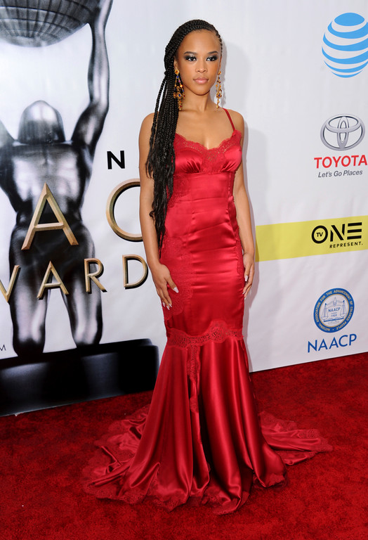 . Serayah arrives at the 48th annual NAACP Image Awards at the Pasadena Civic Auditorium on Saturday, Feb. 11, 2017, in Pasadena, Calif. (Photo by Richard Shotwell/Invision/AP)