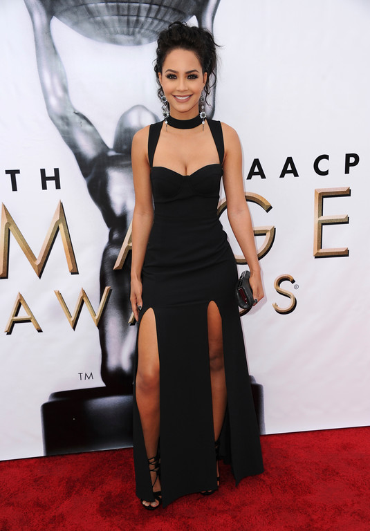 . Tristin Mays arrives at the 48th annual NAACP Image Awards at the Pasadena Civic Auditorium on Saturday, Feb 11, 2017, in Pasadena, Calif. (Photo by Richard Shotwell/Invision/AP)