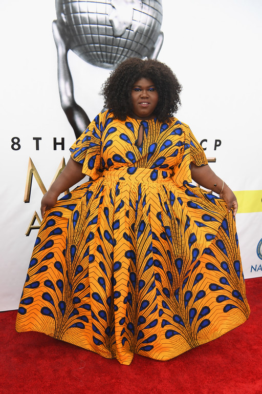 . PASADENA, CA - FEBRUARY 11:  Actress Gabourey Sidibe attends the 48th NAACP Image Awards at Pasadena Civic Auditorium on February 11, 2017 in Pasadena, California.  (Photo by Paras Griffin/Getty Images )