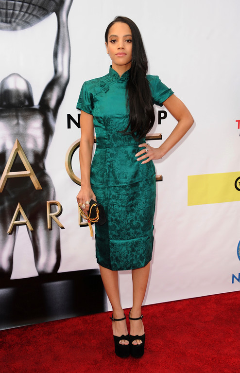 . Bianca Lawson arrives at the 48th annual NAACP Image Awards at the Pasadena Civic Auditorium on Saturday, Feb. 11, 2017, in Pasadena, Calif. (Photo by Richard Shotwell/Invision/AP)