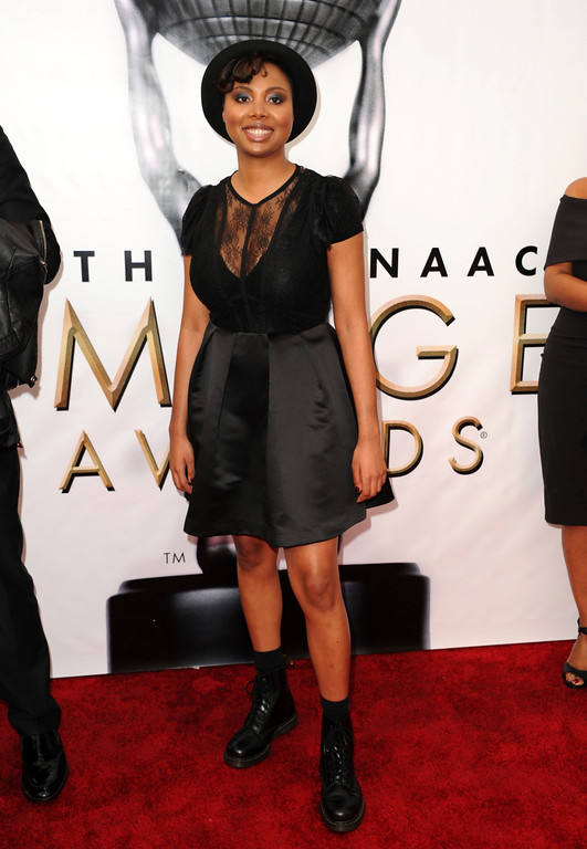 . Misha Green arrives at the 48th annual NAACP Image Awards at the Pasadena Civic Auditorium on Saturday, Feb. 11, 2017, in Pasadena, Calif. (Photo by Richard Shotwell/Invision/AP)