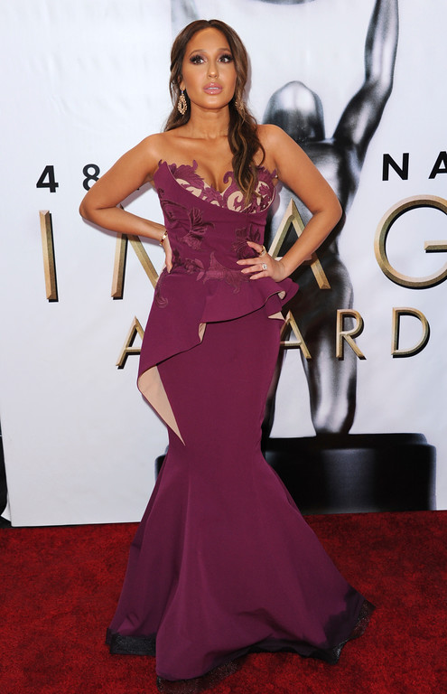 . Adrienne Bailon arrives at the 48th annual NAACP Image Awards at the Pasadena Civic Auditorium on Saturday, Feb. 11, 2017, in Pasadena, Calif. (Photo by Richard Shotwell/Invision/AP)