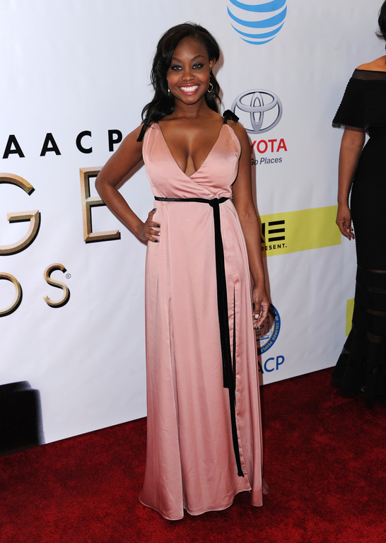 . Melissa Strong arrives at the 48th annual NAACP Image Awards at the Pasadena Civic Auditorium on Saturday, Feb. 11, 2017, in Pasadena, Calif. (Photo by Richard Shotwell/Invision/AP)