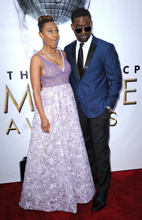 . Ryan Michelle Bathe, left, and Sterling K. Brown arrive at the 48th annual NAACP Image Awards at the Pasadena Civic Auditorium on Saturday, Feb 11, 2017, in Pasadena, Calif. (Photo by Richard Shotwell/Invision/AP)