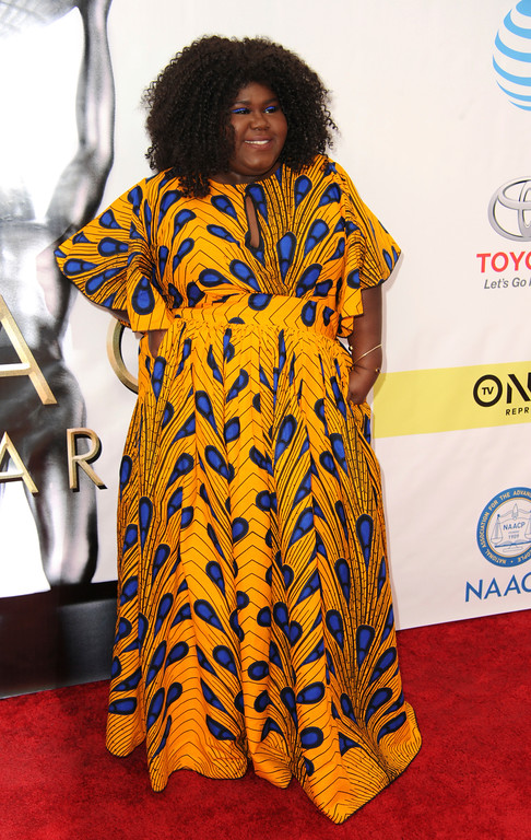 . Gabourey Sidibe arrives at the 48th annual NAACP Image Awards at the Pasadena Civic Auditorium on Saturday, Feb. 11, 2017, in Pasadena, Calif. (Photo by Richard Shotwell/Invision/AP)