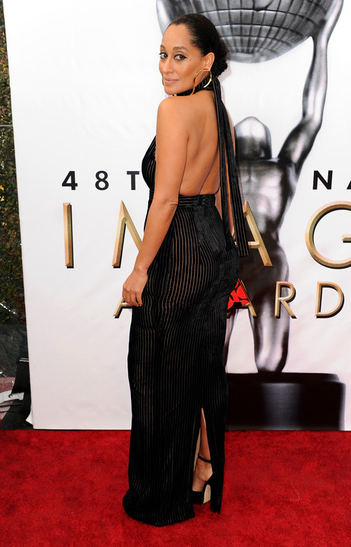 . Tracee Ellis Ross arrives at the 48th annual NAACP Image Awards at the Pasadena Civic Auditorium on Saturday, Feb. 11, 2017, in Pasadena, Calif. (Photo by Richard Shotwell/Invision/AP)