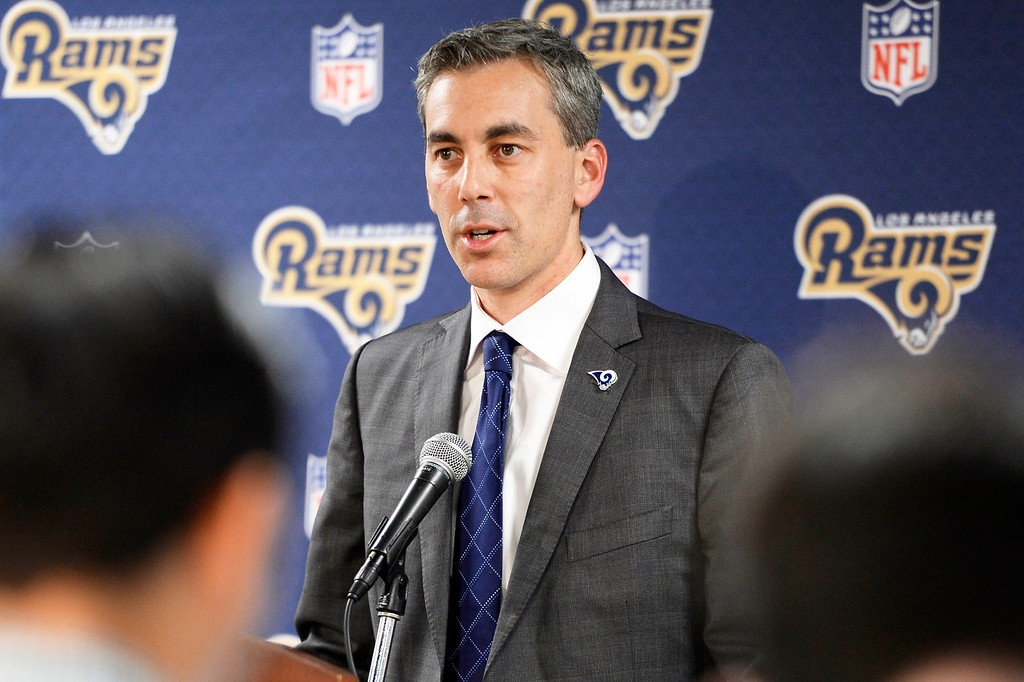 . <b>34. Kevin Demoff, 40, Rams CEO and VP of Football Operations </b> <br>The only person above him on the Rams� food chain is owner Stan Kroenke. Demoff oversees business and football operations for the sports franchise Forbes ranked the 12th most valuable in the world ...  (Photo by David Crane, Los Angeles Daily News/SCNG)
