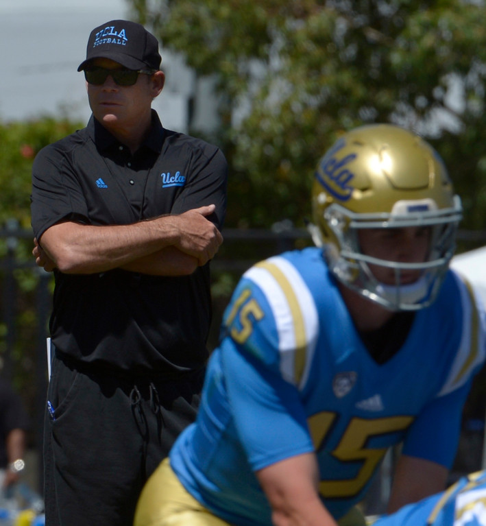 . ...  Mora has produced just five wins in his last 16 games - but lofty expectations remain with quarterback Josh Rosen returning from injury in 2017.  (Photo by Keith Birmingham, Pasadena Star-News/SCNG)
