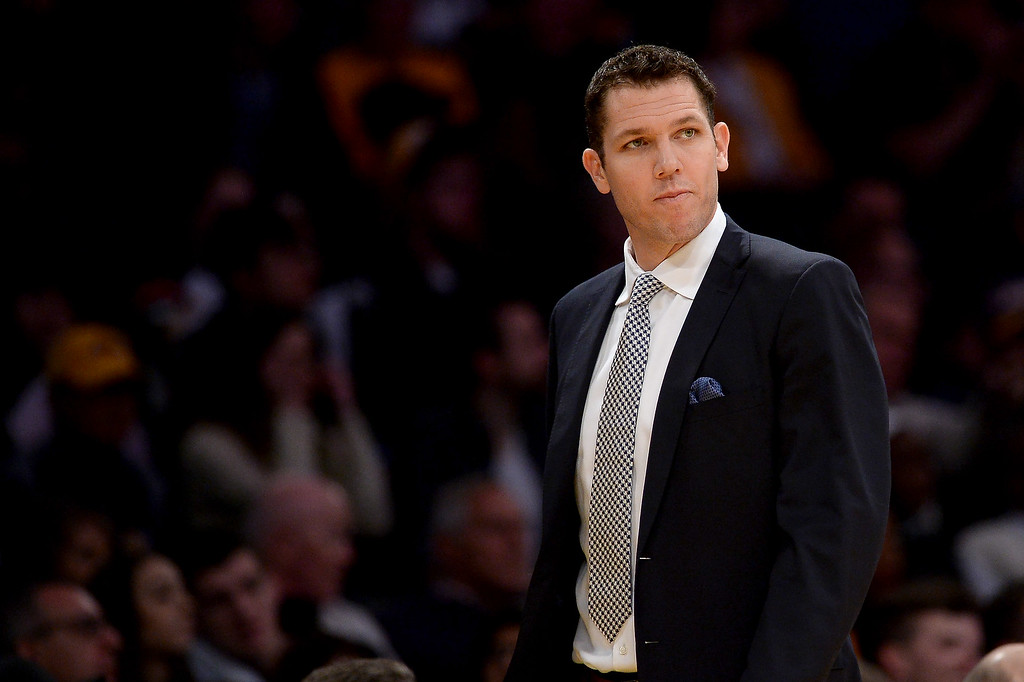 . <b>24. Luke Walton, 37, Lakers Coach </b> <br>Grand expectations based largely on his success in Golden State weren�t lost during a bumpy first season on the Lakers� bench. One of the most intriguing young coaches in the NBA ...  (Photo by Hans Gutknecht, Los Angeles Daily News/SCNG)