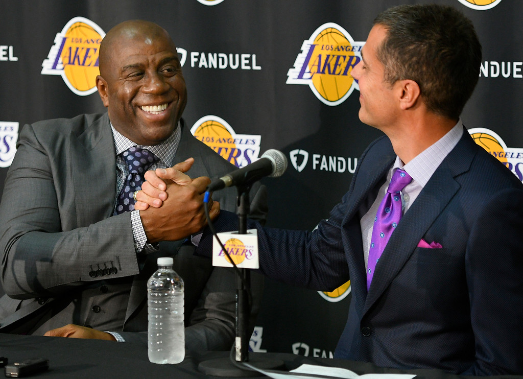 . <b>3. Magic Johnson, 57, Lakers President of Basketball Operations </b> <br>He was already a part-owner of the Dodgers, Sparks and LAFC, but Johnson�s influence in L.A. soared to new heights ... (Photo by John McCoy/Los Angeles Daily News/SCNG)