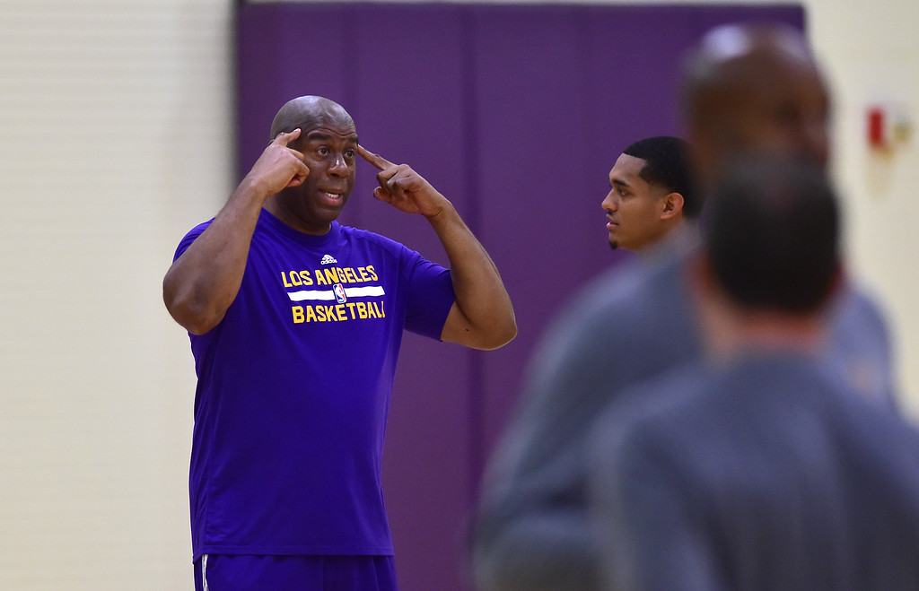 . ... when he was tasked in February with leading the Lakers out of their worst stretch in franchise�s proud history. (Photo by Brad Graverson, The Daily Breeze/SCNG)