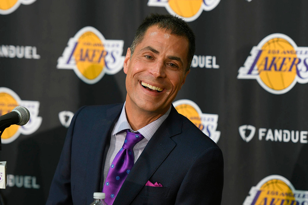 . <b>46. Rob Pelinka, 47, Lakers General Manager </b> <br>On the heels of the worst four-year stretch in the Lakers� franchise history, the hiring of Kobe Bryant�s former agent appears to have Pelinka well positioned ... (Photo by John McCoy, Los Angeles Daily News/SCNG)
