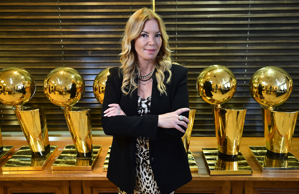 . <b>1. Jeanie Buss, 55, Lakers President and Governor </b> <br>The Lakers� controlling owner won a legal battle with her siblings in March to retain control of one of the most high-profile franchises in sports after firing brother Jim Buss ...   (Photo by Brad Graverson/The Daily Breeze)