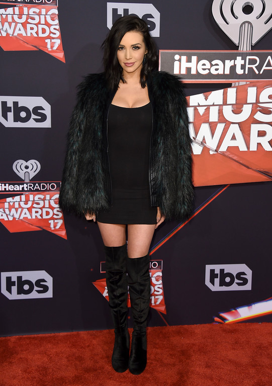 . Scheana Marie arrives at the iHeartRadio Music Awards at the Forum on Sunday, March 5, 2017, in Inglewood, Calif. (Photo by Jordan Strauss/Invision/AP)
