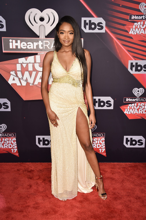 . INGLEWOOD, CA - MARCH 05:  Singer Kayla Brianna attends the 2017 iHeartRadio Music Awards which broadcast live on Turner\'s TBS, TNT, and truTV at The Forum on March 5, 2017 in Inglewood, California.  (Photo by Alberto E. Rodriguez/Getty Images)