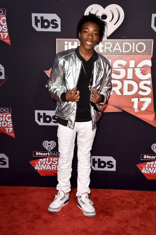 . INGLEWOOD, CA - MARCH 05:  Actor Jaheem Toombs attends the 2017 iHeartRadio Music Awards which broadcast live on Turner\'s TBS, TNT, and truTV at The Forum on March 5, 2017 in Inglewood, California.  (Photo by Alberto E. Rodriguez/Getty Images)