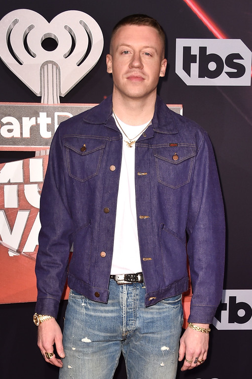 . INGLEWOOD, CA - MARCH 05:  Singer-songwriter Macklemore attends the 2017 iHeartRadio Music Awards which broadcast live on Turner\'s TBS, TNT, and truTV at The Forum on March 5, 2017 in Inglewood, California.  (Photo by Alberto E. Rodriguez/Getty Images)